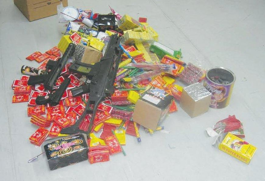 חג שמח ומסוכן. צעצועים מסוכנים שהוחרמו לאחרונה | צילום: משרד הכלכלה