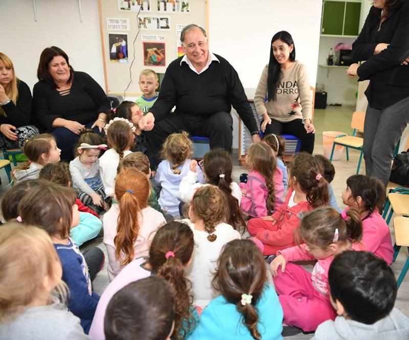 עדיפות ראשונה. יהב בגן הזמני| צילום: דוברות עיריית חיפה
